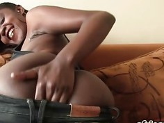 Horny African whore cheated her husbend with a white guy