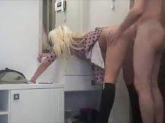 Lustful Wife Open Her Hot Legs N Fucks Over A Vanity Table