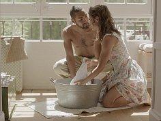 Romantic intercourse of a beautiful couple