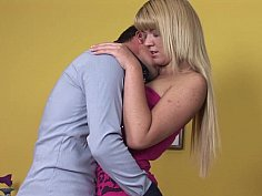 Small titted blonde teen gets fucked