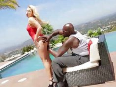 Hardcore interracial anal sex for blonde hot chick Ashley
