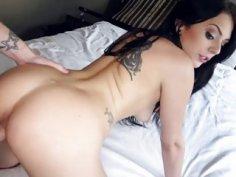 Cute chick Megan Sage loves sucking cock
