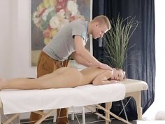 Kimberly gets massaged and fucked until she relaxes