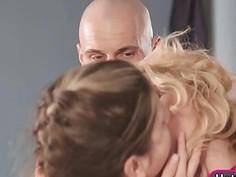 Stepmom Kathia Nobili and teen Gina Gerson threesome action