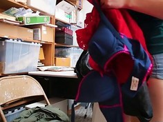 Shoplifter Alex caught and bangs in the office
