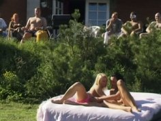 Hot and voracious chick Suzy is for a group fuck outdoors